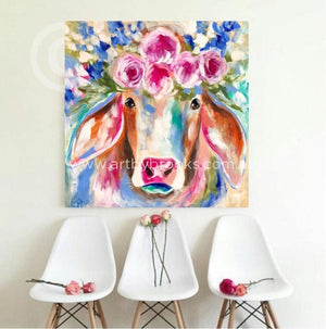 Fleurabelle - Original On Canvas 90 X90 Cm Originals