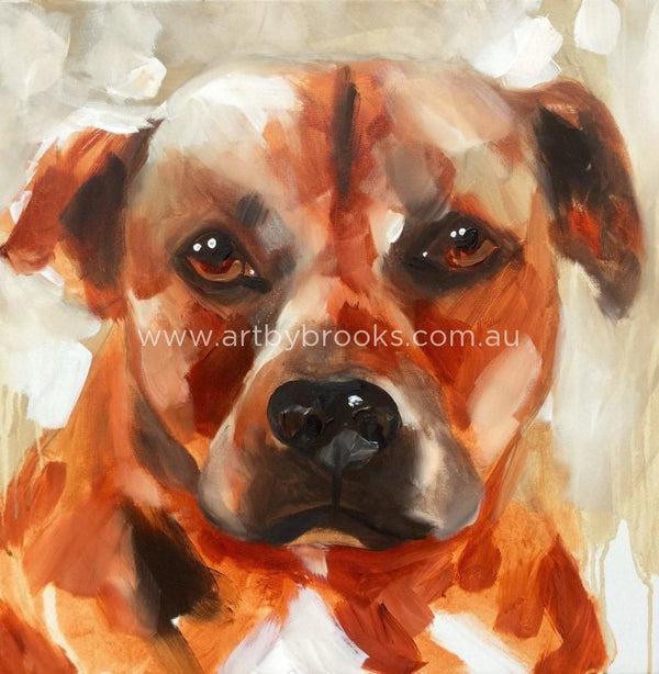 Flossie - Pet Portrait 60 X60 Cm Originals