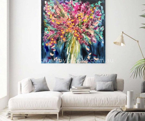 Flowering Eucalyptus -Original On Canvas 120 X120 Cm Original
