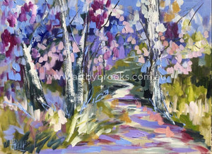 Flowering Jacaranda Lane - Art Print Art