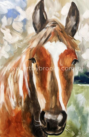 Foley - Horse Portrait 50X75 Cm Original