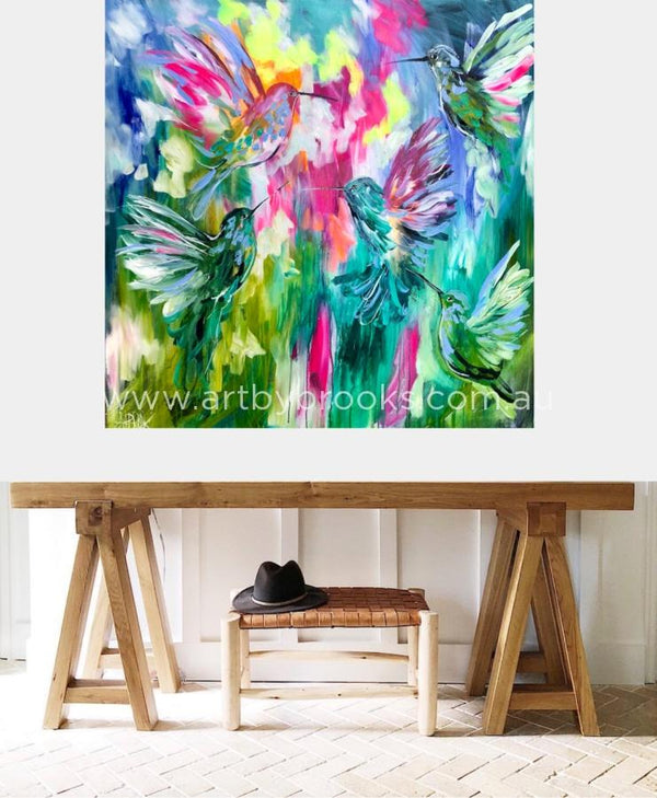Forest Flight - Original On Gallery Canvas 120X120Cm Medium Sized Originals