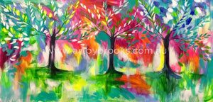 Forest To Forever - Original On Canvas 100 X200Cm Originals
