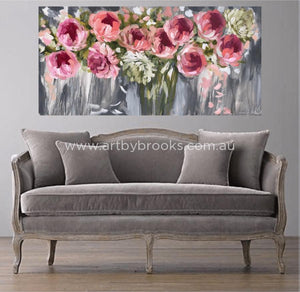 Forever Yours - Original On Canvas 75 X150Cm Original