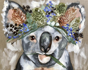 Forget Me Not Koala - Art Print Art