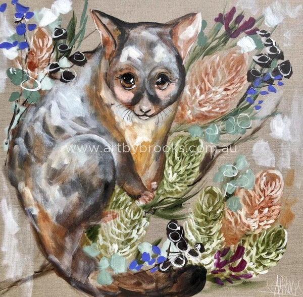 Forget Me Not Possum -Art Print Art