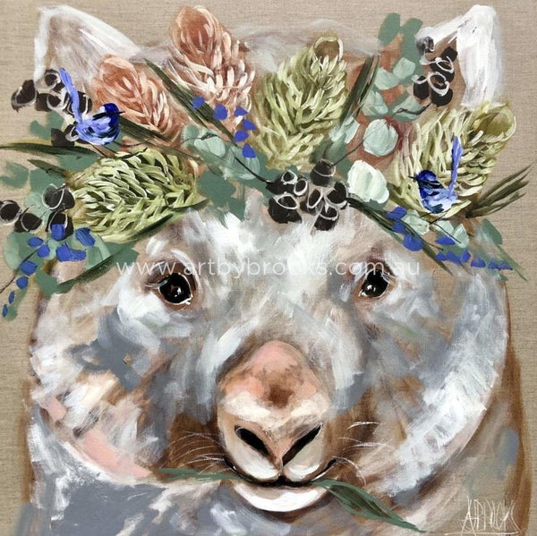 Forget Me Not Wombat -Art Print Art