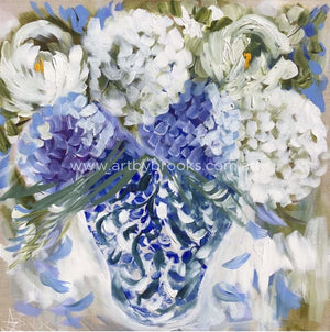 Fragrant Blooms In Blue -Art Print Art