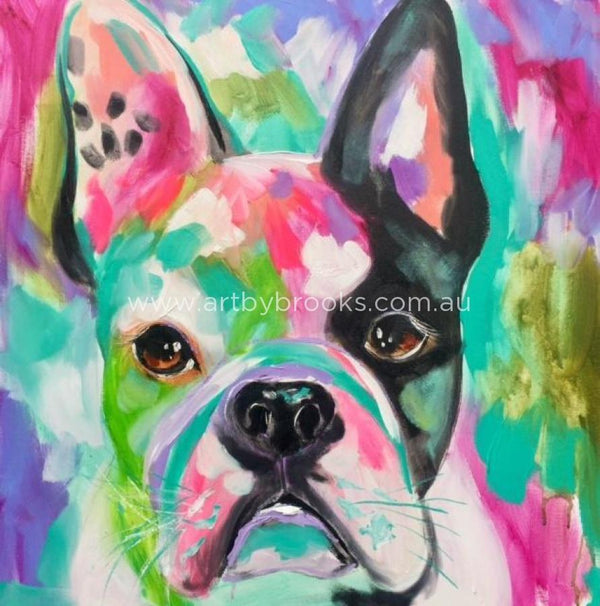 French Bulldog - Commisioned 60 X60 Cm Originals