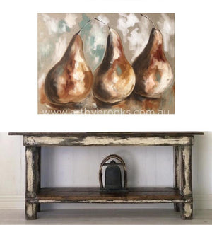 French Pears - Original On Linen 90X120 Cm Originals