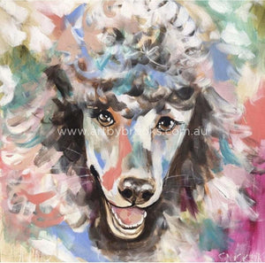 French Poodle - Art Print Art