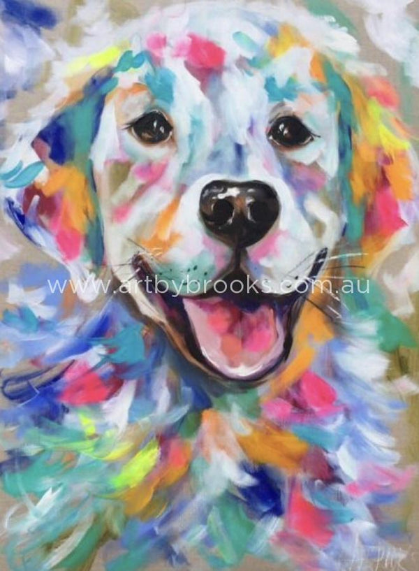 Golden Retriever - Art Print Art