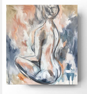 Graceful Curves - Original On Canvas 90X100 Cm Original