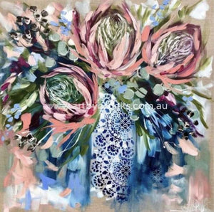 Grand Protea And Sweet Eucylyptus - Art Print Art