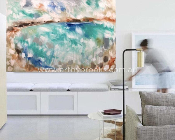 Hamptons Coast - Original On Canvas 120 X180 Cm Originals