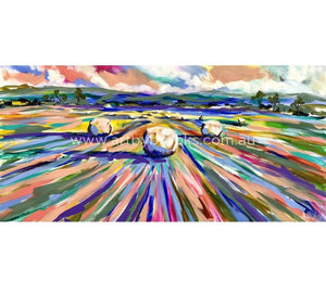 Harvest To Hay Time -Original On Canvas 75 X150 Cm Originals