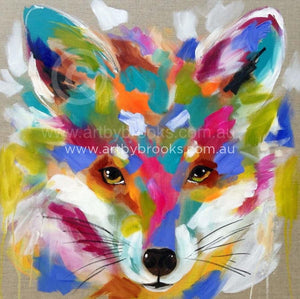 Here Little Fox - Art Print 78 X78 Cm Art