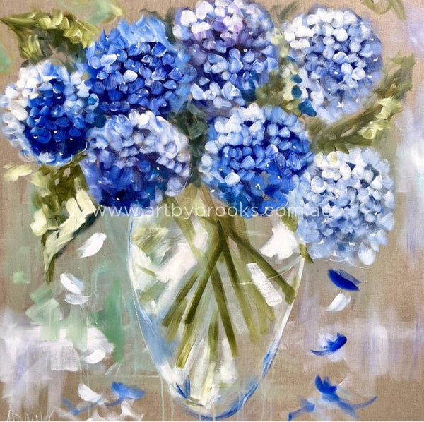 Homegrown Hydrangeas - Art Print Art