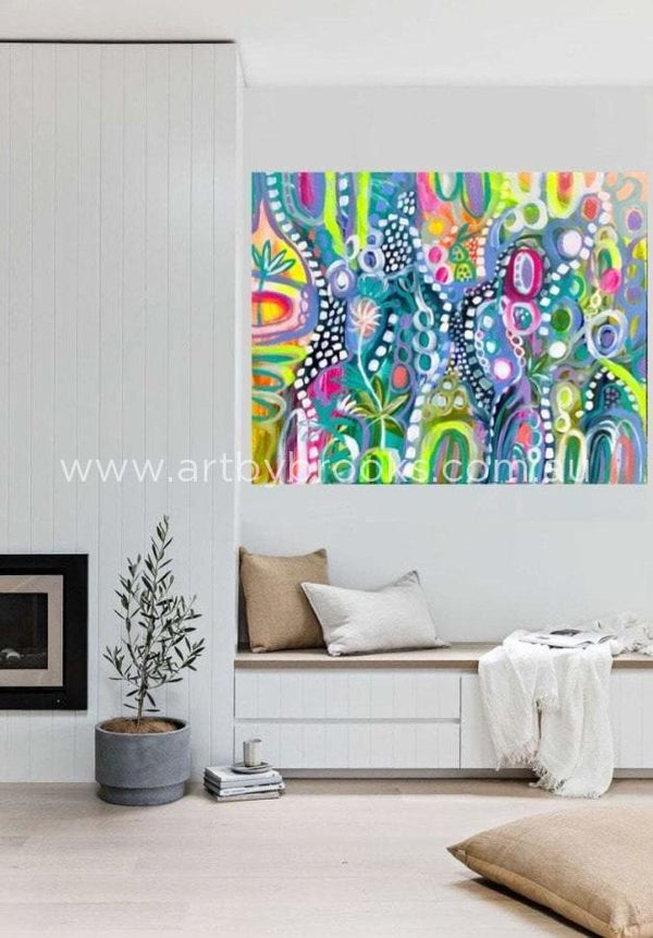 Journey To Kakadu - Original On Canvas 120X150 Cm Medium Sized Originals