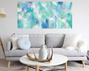 Lattice Lane - Original On Canvas 75 X150 Cm Originals