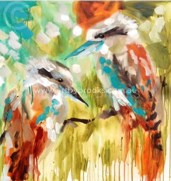 Laughing Kookaburras - Art Print Art Prints