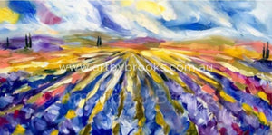 Lavender Fields - Art Print Art Prints