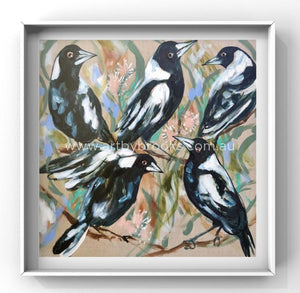 Magpie Lane - Art Print Art
