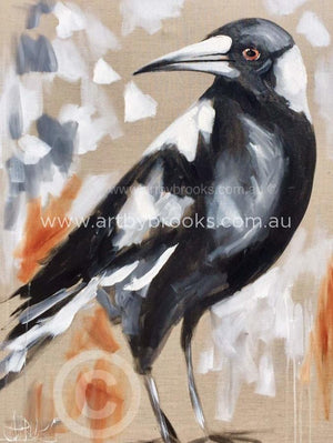 Magpie Morning -Art Print Art