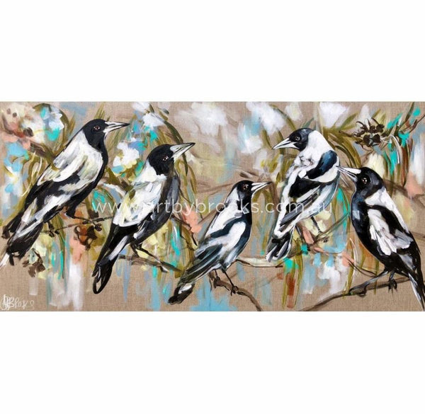 Magpies And Blue Skies -Art Print Print