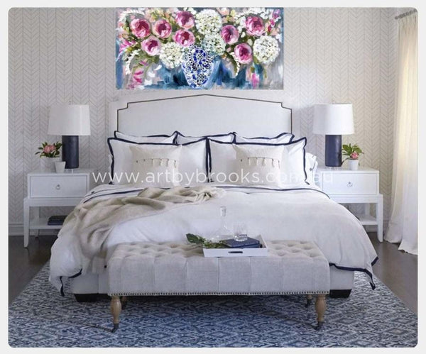 Midsummer Blooms -Original On Canvas 75 X150Cm Originals