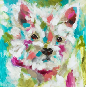 Millie- Pet Portrait Commissioned 90 X90 Cm Originals