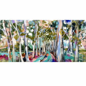 Misty Forest Gums - Art Print Art