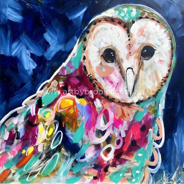 Moon Dance Owl - Art Print Art