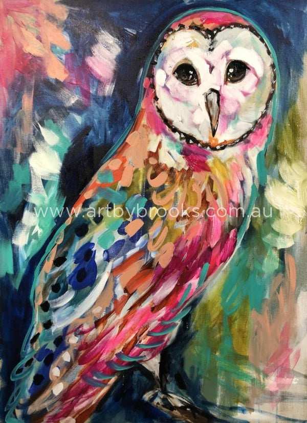 Moon Shadow Owl - Art Print Art