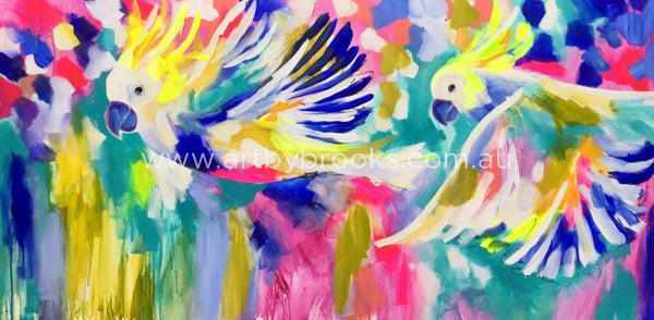 Our Flight Song - Original On Canvas 75 X150 Cm Originals