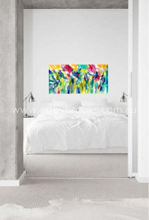 Over The Rainbow - Original On Canvas 75 X150 Cm Originals