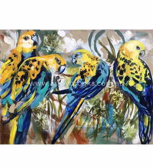 Pale Headed Rosellas - Art Print Art Prints