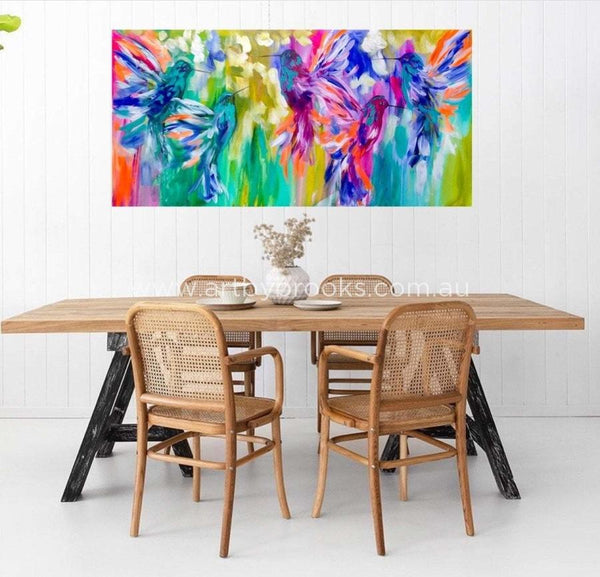 Paradiso Flight - Original On Canvas 75X150 Cm Medium Sized Originals
