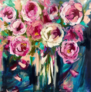 Paris Peony - Original On Canvas 90X90Cm Original