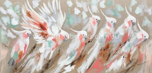 Pastel Plumage - Original On Belgian Linen Originals