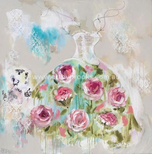 Peony Bella Couture- Original On Canvas 120 X120 Cm Originals
