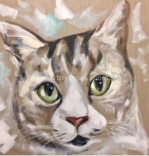 Pet Portrait - 60X60 Cm Belgian Linen Originals