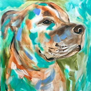 Pet Portrait - 60X60Cm Original