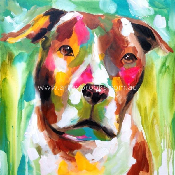 Pet Portrait - Axel Commisioned 60 X60 Cm Originals