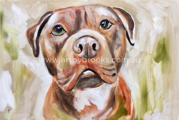 Pet Portrait - Axel -Commissioned 60X90Cm Originals