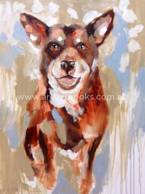 Pet Portrait -Bella Commisioned 90 X120 Cm Originals