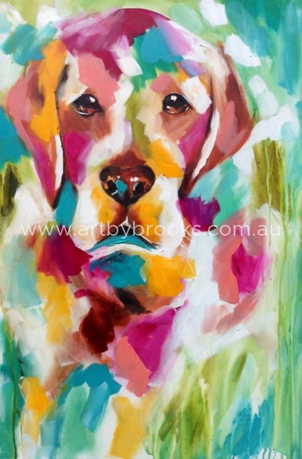 Pet Portrait - Billy Commissioned 60 X90 Cm Originals