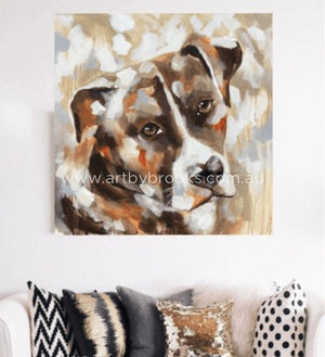 Pet Portrait- Buster - 90X90Cm Originals