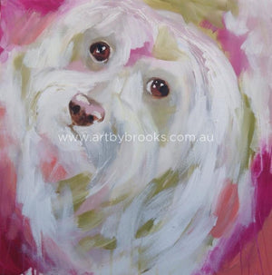 Pet Portrait - Cc Commisioned 50 X50 Cm Originals