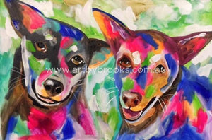 Pet Portrait - Commisioned 50X75Cm Originals